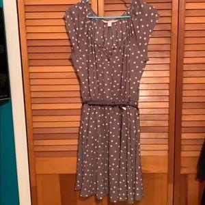 Lauren Conrad for Kohl's purple polkadot dress